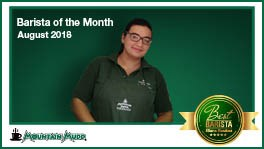 Mountain Mudd's Barista Of the Month- August 2018