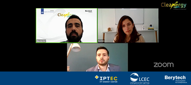 IPTEC Joining Berytech's Webinar on The Challenges and Opportunities in the Energy/Transport Sector