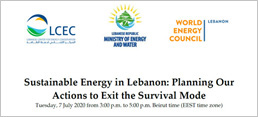 """Sustainable Energy in Lebanon: Planning Our Actions to Exit the Survival Mode"""
